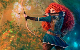 Preview wallpaper Brave, princess, red hair, bow, Disney cartoon movie