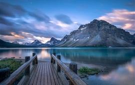 Aperçu fond d'écran Canada, lac Bow, jetée