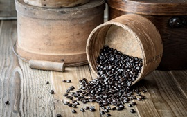 Preview wallpaper Coffee beans, bucket