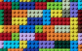 壁紙のプレビュー カラフルなレゴキューブ
