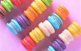 Pasteles coloridos, macaron