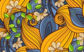 Preview wallpaper Creative design, flowers, leaves