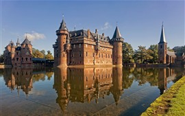 Preview wallpaper De Haar Castle, Netherlands, water