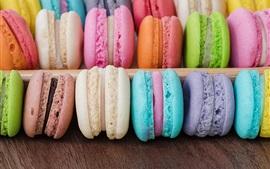 Bolos deliciosos, macaron colorido