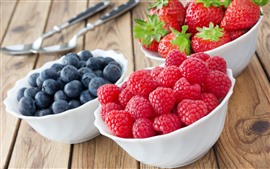 Preview wallpaper Delicious fruit, strawberry, blueberry, raspberry