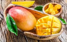 미리보기 배경 화면 맛있는 망고, 신선한 과일