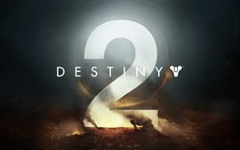 Preview wallpaper Destiny 2, game logo, war