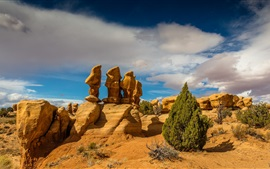 Preview wallpaper Devil's Garden, Arches National Park, Utah, USA