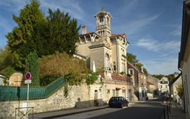 Preview wallpaper France, Chateau Pierrefonds, castle, city, street