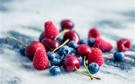 Preview wallpaper Fruit, strawberry, blueberry, raspberry
