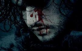 Preview wallpaper Game of Thrones, face, blood
