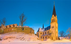 Preview wallpaper Germany, church, castle, snow, winter