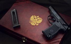 Aperçu fond d'écran Pistolet, boîte, arme