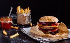 Hamburguesa, sándwich, comida rápida