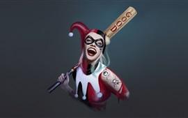 Harley Quinn, DC Comics, palhaço, garota, imagens de arte