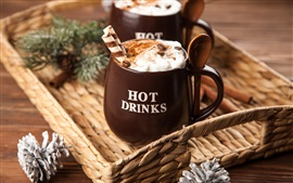 Preview wallpaper Hot drinks, coffee, cups