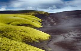 Aperçu fond d'écran Islande, Vestur-Skaftafellssysla, vert et noir