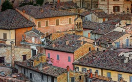 Preview wallpaper Italy, Urbino, city, roof