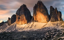 Preview wallpaper Italy, mountain range, snow, nature landscape