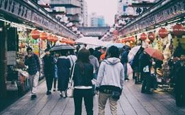 Япония, Токио, улица, люди