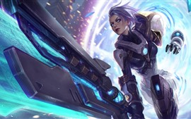 League of Legends, garota, armas