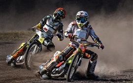 Preview wallpaper Motorcycles, race, speed, dirt