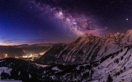 Горы, звезды, свет, ночь