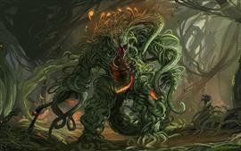 Мутантный монстр, художественная фотография