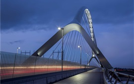 Preview wallpaper Nijmegen, Netherlands, bridge, illumination, night