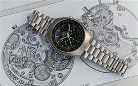 Preview wallpaper Omega metal watch, dial
