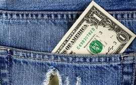 Preview wallpaper Pocket, one dollar, jeans