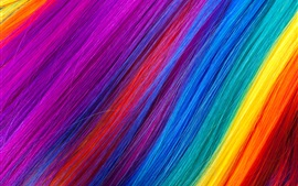 Preview wallpaper Rainbow color hairs