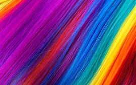 Радужные цветные волосы