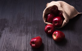 Preview wallpaper Red apples, bag
