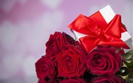 Rosas rojas, regalo, romántico, amor