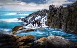 바다, 바위, 아름다운 풍경