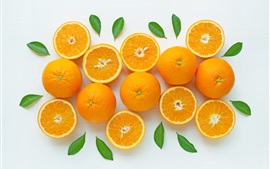 Preview wallpaper Some fresh oranges