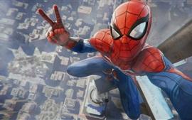 壁紙のプレビュー スパイダーマン、ゲーム、都市、トップビュー