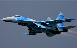 Preview wallpaper Su-27 combat aircraft