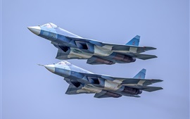 Preview wallpaper Su-57 multi-role fighter