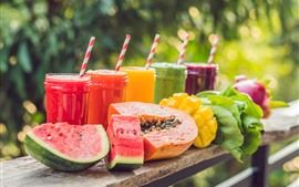 Preview wallpaper Summer, drinks, smoothies, watermelon, mango