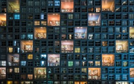 Preview wallpaper Tokyo, architecture, houses, windows, night, lights