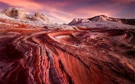 США, Аризона, пустыня, восход солнца, скалы