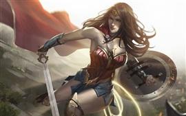 Preview wallpaper Wonder Woman, superhero, art picture