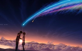 Preview wallpaper Your Name, beautiful meteor