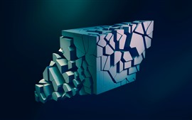 Preview wallpaper 3D figure, abstraction, black background