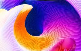 Aperçu fond d'écran Courbe abstraite, couleurs colorées, photo d'art