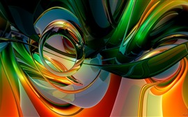 Abstract curves, colorful, rainbow