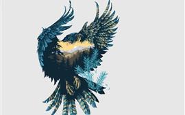 Imagens de arte, Falcon, natureza, penas, asas