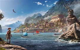 Assassin's Creed: Odyssey, garota vista traseira